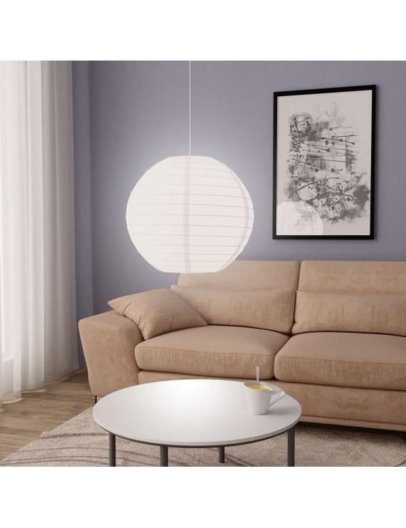 Pendant lamp white Ø60 cm E27