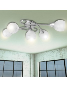 Ceiling lamp with glass shades 5 x E14