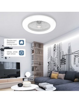 Ceiling Fan with Lighting LED Light Adjustable Wind Speed Dimmable with Remote Control Without Battery 36W Modern LED Ceiling Light for Bedroom Living Room Dining Room
