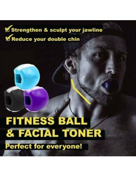 Jaw, Face, and Neck Exerciser, Neck Toning Facial Exerciser, Define Your Jawline, Slim and Tone Your Face, Look Younger and Healthier - Helps Reduce Stress and Cravings, Fitness Ball
