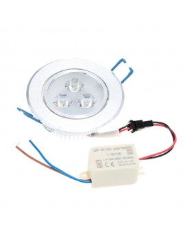 3*1W LED Recessed Ceiling Down Light Lamp Spotlight Indoor for Home Living Room Decoration Lighting with Driver AC85-265V