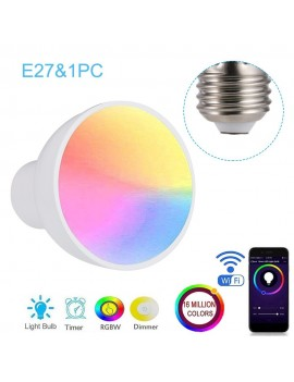 GU10/E27/GU5.3 WiFi Intelligent Light Bulb RGBW 6W LEDs Dimmable Lamp Cup Compatible with-Alexa&Google-Home Remote