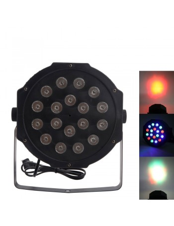 30W 18-RGB LED Auto / Voice Control DMX512 High Brightness Mini Stage Lamp (AC 110-240V)