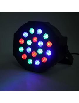 30W 18-RGB LED Auto / Voice Control DMX512 High Brightness Mini Stage Lamp (AC 110-240V)