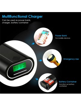 DC5V 10W 2 Slots 18650 Rechargeable Battery Charger