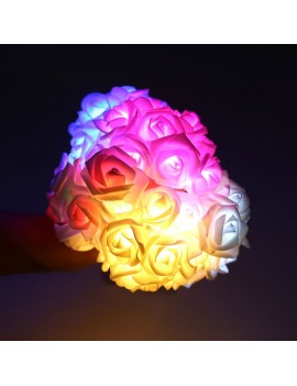 20LEDs Lamp String 2.2M Rose Christmas Holiday Lights Valentine Wedding Decoration Flower Bulbs LEDs Lamp