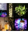 3M/9.8FT 30 LED Fairy Starry Copper Wire String Battery Operated Powered IP65 Water Resistance Extra Flexible Bendable Light Strip for Holiday Christmas Xmas Halloween Festival Decorations