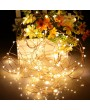 DC4.5V 0.3W 3 Meters 30 LED Fairy Copper String Light Battery Powered Operated Warm White Flexible Bendable Twistable Portable for Home Party DIY Decoration Festival Restaurant Bar Pub Club