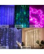 3000MM*3000MM 300LEDs USB Curtain Light Copper Wire 8 Modes Lamp String Lights with RF Remote