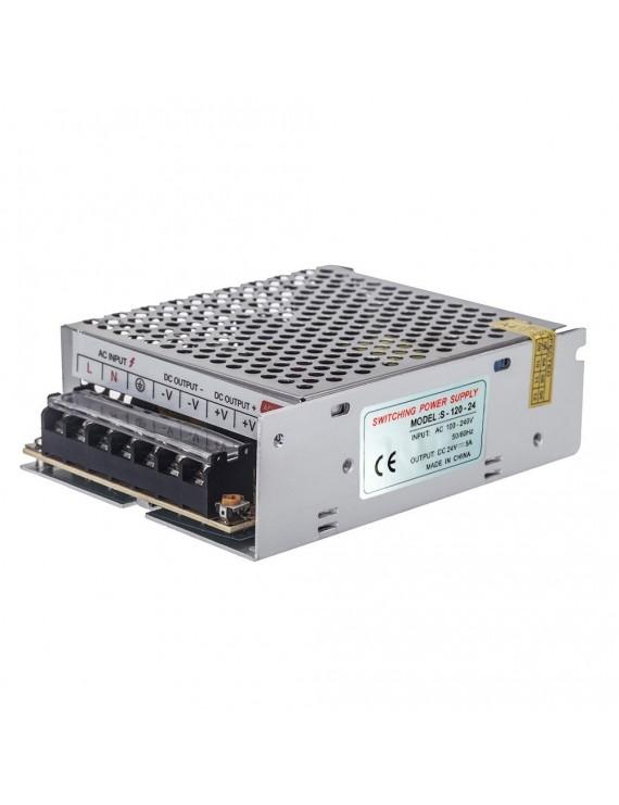 AC 100V~240V to DC 24V 5A 120W Voltage Transformer Switch Power Supply for Led Strip